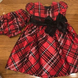 Bonnie Baby plaid holiday Party dress 24 months